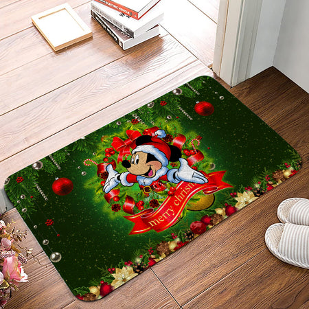 MK Mouse Merry Christmas Laurel Christmas Doormat