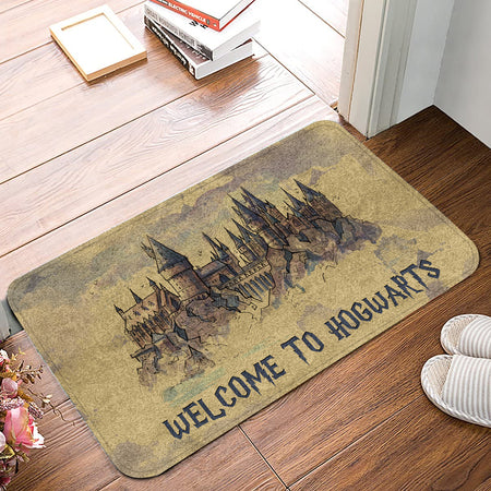 HP Welcome To Hgwarts Vintage Doormat