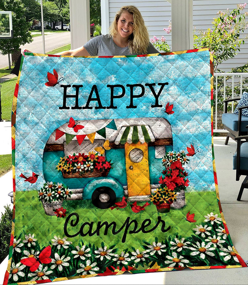 Happy Camper Camping Lovers Quilt