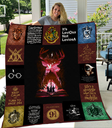 HP Harry Deathly Hallows Symbols Quilt
