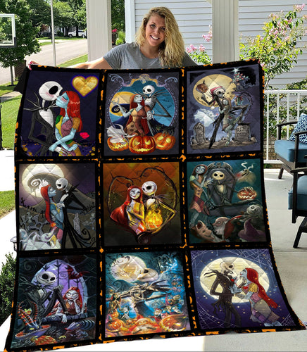 TNBC Jack And Sally Art Quilt
