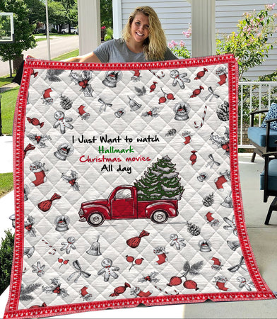 Want To Watch Hallmark Christmas Movies Quilt