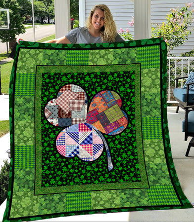 Irish Shamrock Lucky Charms ST Patrick's Day Quilt
