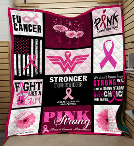 Fight Like A Girl Breast Cancer Quilt