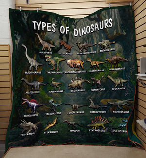 Types Of Dinosaurs Quilt