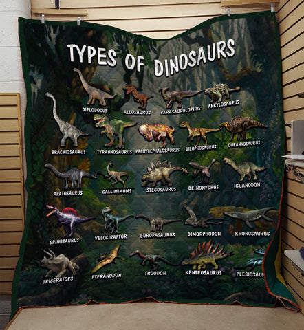 Image of Types Of Dinosaurs Quilt