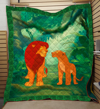 Simba And Nala In The Jungle Quilt