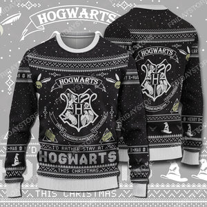 HP I'd Rather To Stay At HW Christmas Sweater