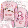 Just A Girl Who Loves Sloths  All Over Print Hoodie T-shirt