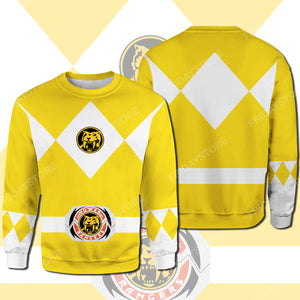 Yellow Power Ranger Costume All Over Print Hoodie T-shirt