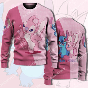 LAS His Angel Blowing Kiss Couple Sweater