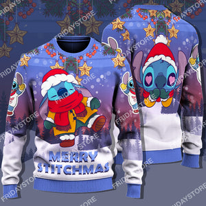 LAS Merry Stitchmas Adorable Christmas Sweater