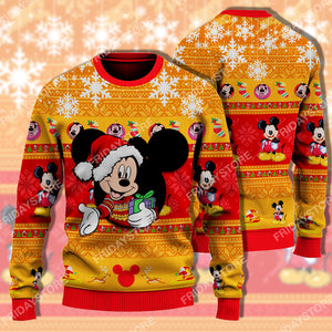 DN Mouse Orange Christmas Sweater