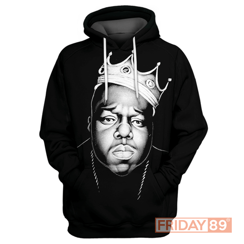 King Biggie Smalls Mens T-Shirt Big Hip-Hop