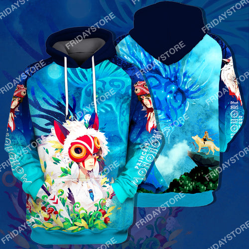 GB Princess San And Forest Spirit All Over Print Hoodie T-shirt