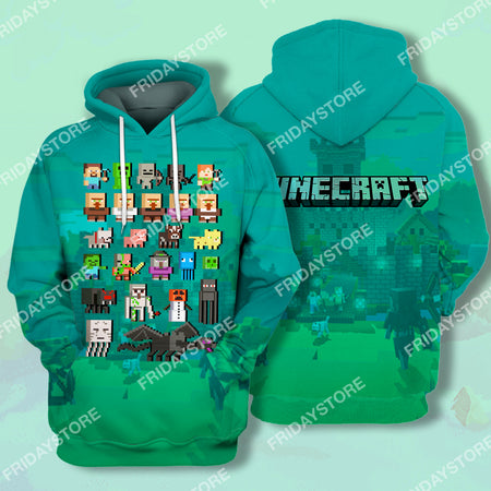 MC Game Characters All Over Print Hoodie T-shirt