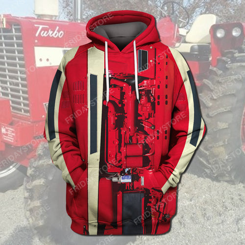 Farm Case Ih Tractor Costume All Over Print Hoodie T-shirt