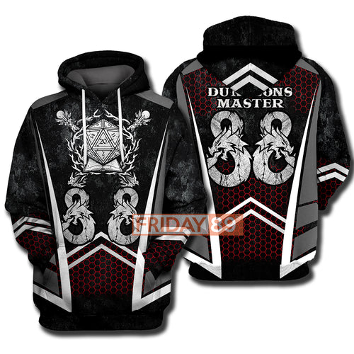 Game DnD DM Dungeons-Master Sublimation Hoodie