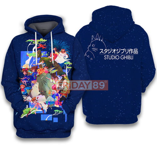 SG Ghibli Japan Anime All Characters Chibi  All Over Print Hoodie T-shirt