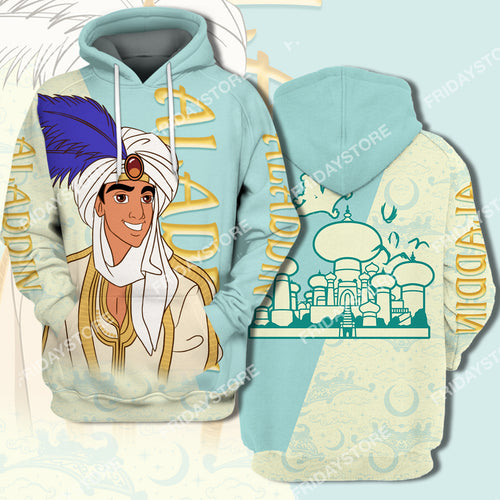 DN Aladdin Couple All Over Print Hoodie T-shirt