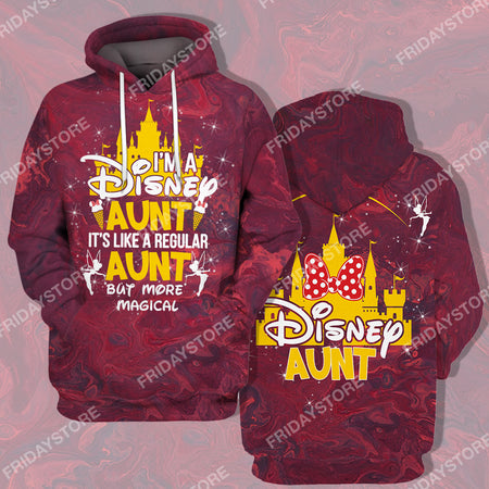 DP Aunt Quote All Over Print Hoodie T-shirt