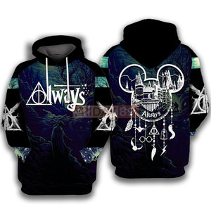 HP Always Dreamcatcher The Deathly Hallows Symbol Art 3D All Over Print Hoodie T-shirt