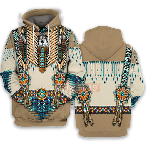 All Over Print Native American Culture Beautiful Pattern Hoodie