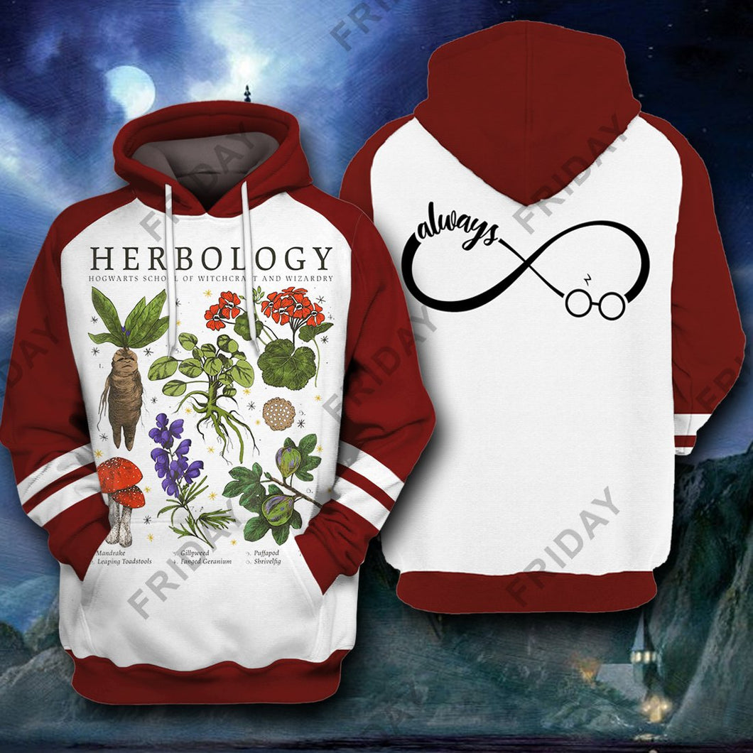 HP Herbology All Over Print Hoodie T-shirt