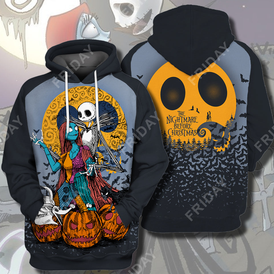 TNBC Nightmare Couple Halloween  All Over Print Hoodie T-shirt