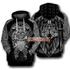 Odin Viking Symbol All Over Print Hoodie