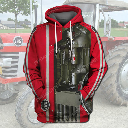 Farm Massey Ferguson Tractor Costume All Over Print Hoodie T-shirt