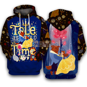 Beauty & The Beast Tale As Old As Time 3D Print Hoodie T-shirt