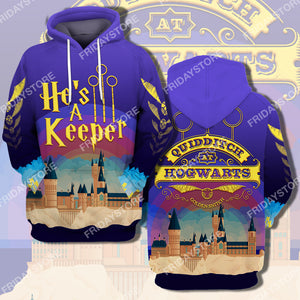 HP Couple He's A Keeper All Over Print Hoodie T-shirt