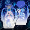 DN Frozen II Water Horse All Over Print Hoodie T-shirt
