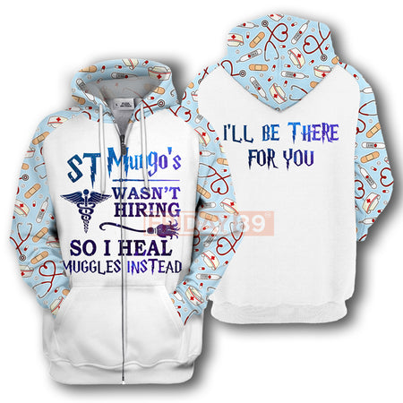 HP Nurse Doctor ST Mungo's Wasn't Hiring Long Sleeve 3D Print Hoodie T-shirt