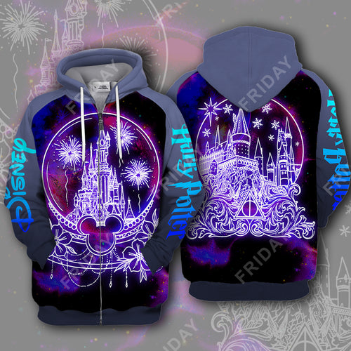 DN and HP Castle In Glass Sphere 3D Print Hoodie T-shirt