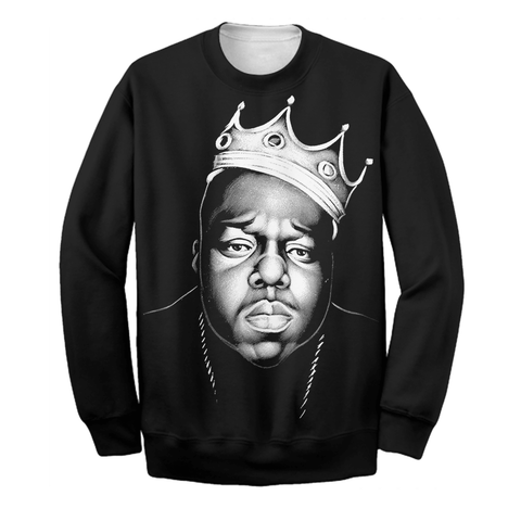 Image of King Biggie Smalls Mens T-Shirt Big Hip-Hop