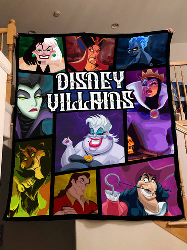DN Villains Evil Characters Blanket