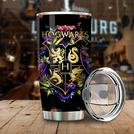 HP Harry HW Logo Magical Floral Tumbler