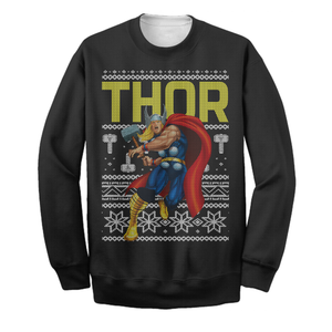 God Of Thunder Ugly Christmas Long Sleeve Printing
