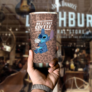 Stitch But First Coffee Tumbler