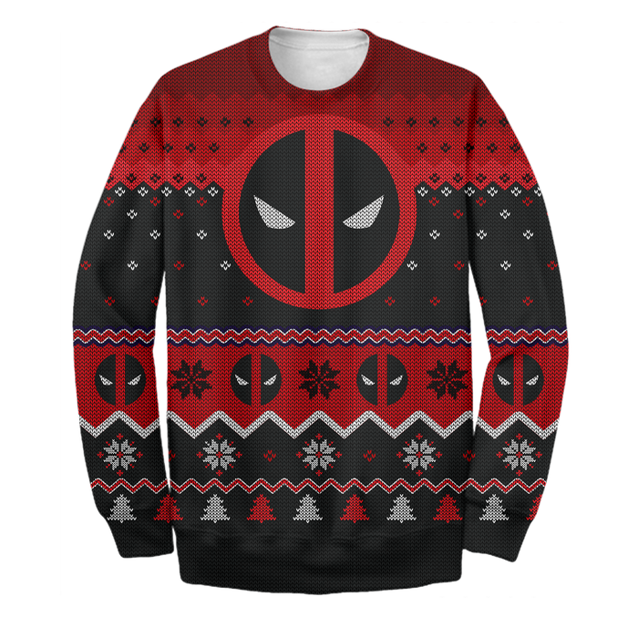 Deadpool Ugly Long Sleeve Printing
