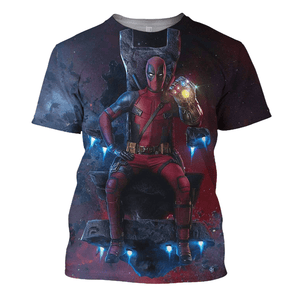 Deadpool On The Throne 3D Print Shirt