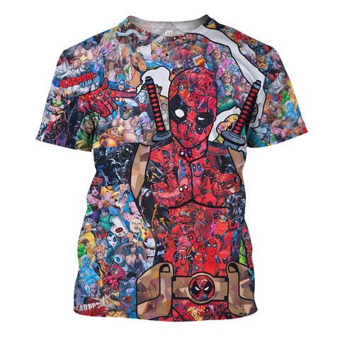 Image of Dead Pool Art 3D Print Shirt
