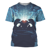 Train Your Dragon Black & Blue 3D Print Shirt