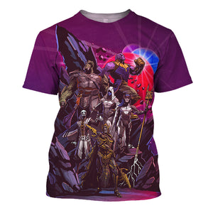 Thanos Black Order 3D Print Shirt