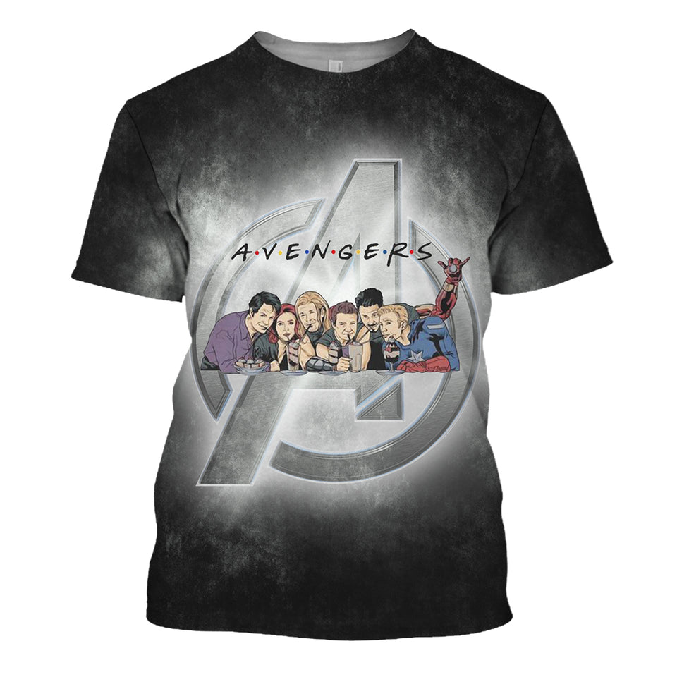 Avengers Friends 3D Print Shirt