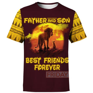 Father And Son - Lion King Hoodie T Shirt Best Friends Forever