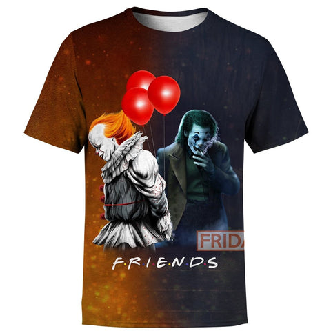 Joker And Pennywise Friends Hoodie