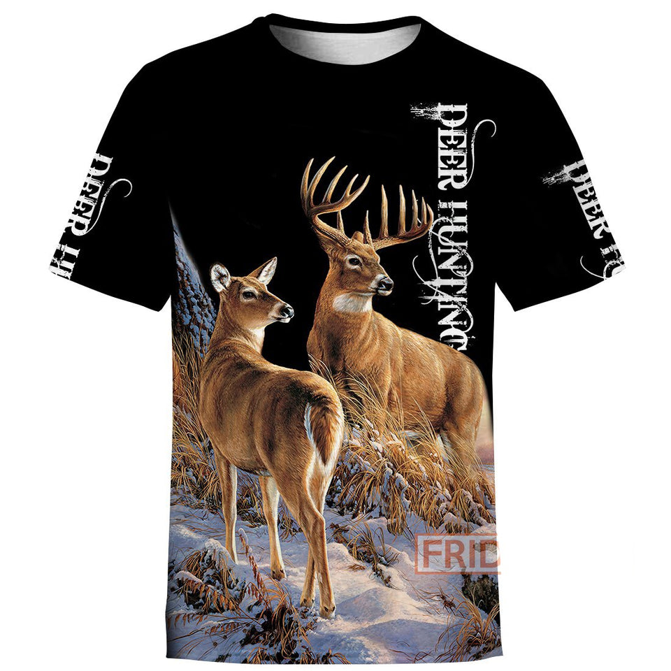 Hunting Animals Wildlife Deers Hunter 3D All Over Print Hoodie T-shirt Tank Sweater